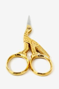 Let your creativity take flight with these antique style scissors in the shape of a crane! $12.50