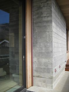 Exterior Finish Option Board Formed Concrete Design Ideas, Pictures, Remodel, and Decor Concrete Siding, Painted Concrete Floors, Painting Concrete, Concrete Wood, Concrete Design, Exposed Concrete, Concrete Forms, Brick Fence, Front Yard Fence