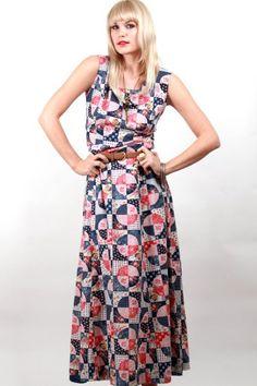 Save $15- Vintage Floral Patchwork Maxi Dress, $35.00 (http://www.skinnybitchapparel.com/vintage-floral-patchwork-maxi-dress/)