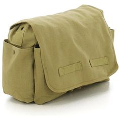 Khaki - Vintage Messenger Bag