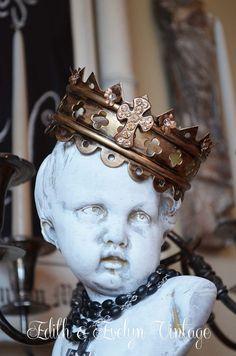 Stunning Santos Crown Rhinestone Cross by edithandevelyn on Etsy