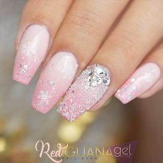 18 Gel Nails Designs for Your Complete Look ★ Gel Nails Designs for a Coffin Shape Picture 4 ★ See more: http://glaminati.com/gel-nails/ #gelnails #naildesings