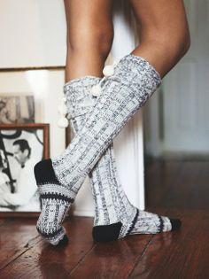 Pompom Slipper Socks by Free People - $30