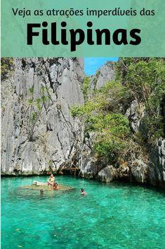 As Filipinas têm uma atração mais linda que a outra. São lagos, cavernas, montanhas, formações rochosas impressionantes e, claro praias. Veja o que é imperdível nas Filipinas.