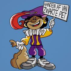 Handen af van Zwarte Piet poster