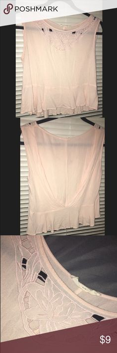 Blush sleeveless top This is a wonderful summer/spring top. It is a light pink, loose fitting top with subtle embroidery. Nordstrom Tops Blouses
