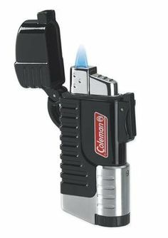 New - Coleman Black Tempest Windproof Lighter - QTR691011X by Visol. $12.25. Windproof Force V Flame  Lanyard Attachment  Locking Cap with Water-Resistant Seal  LED Flashlight  Butane Refillable Lighter