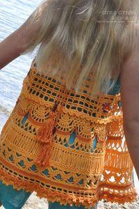 Ethno Chic Crocheted Vest