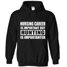 Hunting is importanter - #shirt dress #tshirt sayings. BEST BUY => https://www.sunfrog.com/Sports/Hunting-is-importanter-8588-Black-Hoodie.html?68278