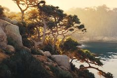 Learn about artist Brian Blood: Primarily a plein-air painter, Blood creates hundreds of studies directly from nature, observing the ever changing light of day. He then takes his studies and supporting reference photos back to one of his two studios, either in San Francisco or Pacific Grove, to paint. He uses these studies as the basis for his larger scale works. http://brianblood.com