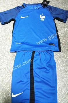 Cheap soccer jersey from topjersey 2016 European Cup France Home Blue Kid/Youth Soccer Uniform-France,Youth and Kid set| topjersey