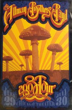 Original concert poster for The Allman Brothers in Chicago, IL in 2003. 13 x 19.5 inches