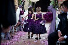 purple flowergirls