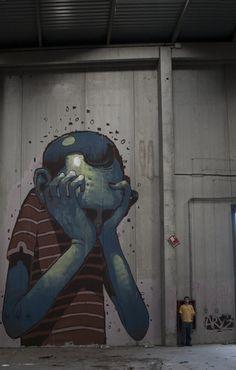 Blue Boy by Aryz