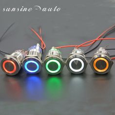 orange 1/Momentary Push Button Switch 12/V Metall Push Button mit LED Angel Eye Kopf Auto Schalter Push Button
