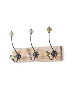 Originale appendiabiti con 3 ganci colorati e realizzati in ferro su base in…
