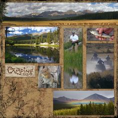 Scrapbook page idea for camping