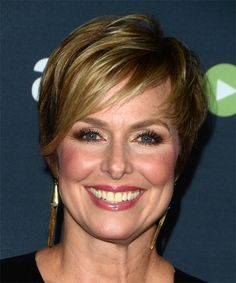 Melora Hardin Short Straight Formal Hairstyle - Dark Ash Blonde Hair Color with Light Blonde Highlights, Short Straight Hair, Short Hair With Layers, Short Hair Cuts, Short Hair Styles, Side Swept Hairstyles, Formal Hairstyles, Straight Hairstyles, Daily Hairstyles, Hairstyle Short