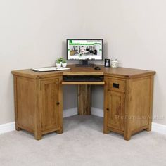 rustic oak corner desk - Google Search