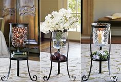 #PartyLite Rustic Scroll Floor Stand