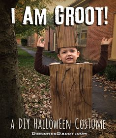 """Want the cutest kid in all the forest? Then make this DIY Groot Halloween costume, from Marvel Comics' """"Guardians of the Galaxy."""""""