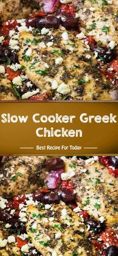 Slow Cooker Greek Chicken – Food for Healty Grilled Chicken Recipes, Baked Chicken Recipes, Chicken Meals, Turkey Recipes, Easy Family Meals, Family Recipes, Slow Cooker Recipes, Crockpot Meals, Dinner Crockpot