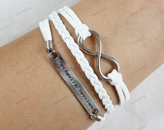 silver braceletsinfinite where there is a will there by edwinating, $6.99