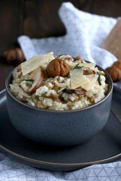 Risotto aux châtaignes et champignons shiitake vegetarisch lifestyle recipes grillen rezepte rezepte schnell Mushroom Recipes, Vegetable Recipes, Vegetarian Recipes, Cooking Recipes, Healthy Recipes, Cooking Risotto, Healthy Eating Tips, Couscous, Food Inspiration