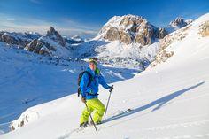 Scialpinismo a Passo Falzarego, Cortina d'Ampezzo.