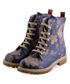 ab75fbe47 Look at this Blue   Pink Floral Combat Boot