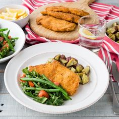 Cajun crumbed chicken schnitzel is a family favourite - this easy, tasty recipe was a big hit with our My Gluten-Free Bag customers!