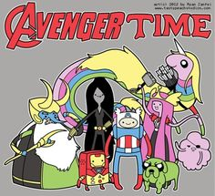 Avenger Time My two loves, adventure time and the avengers Avengers Fan Art, Avengers Imagines, Avengers Quotes, Adventure Time, Tom Hiddleston, Marvel Dc, Avenger Time, Land Of Ooo, Finn The Human