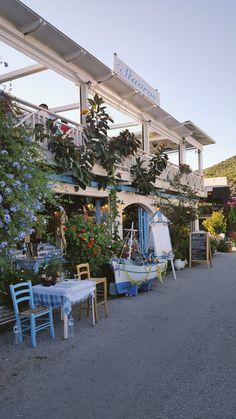 Stavros taverna Sivota Lefkada Lefkas Greece. Small wedding dinners in traditional harbour taverna