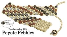 "Video: How to Make "" Peyote Pebbles "" Bracelet.   #Seed #Bead #Tutorials"