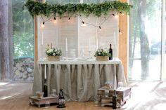 Декор стола молодых. Стол молодоженов. Декор свадьбы. Стиль: прованс, эко, кантри.