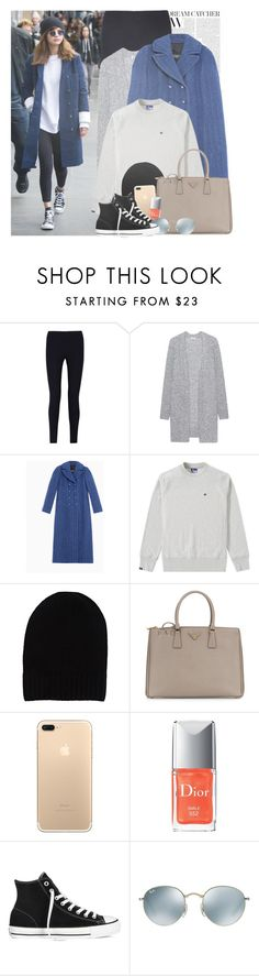 """""""celebrity style; selena gomez."""" by gomezrevivals ❤ liked on Polyvore featuring Joseph, Acne Studios, Max&Co., Champion, Barneys New York, Prada, Christian Dior, Converse and Ray-Ban"""