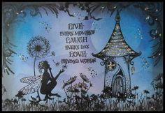 Blue fairy cardfaerie cardfairy birthday by fairysparkled on Etsy
