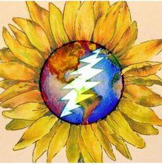 listen to grateful dead and i'm trippin balls Grateful Dead Tattoo, Grateful Dead Image, Grateful Dead Lyrics, Pink Floyd, Dead Images, Hippie Art, Forever Grateful, Art Inspo, Painted Rocks