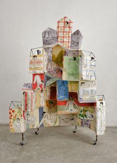 Textile Sculpture, Art Sculpture, Textile Art, Creation Art, Trash Art, Sewing Art, Assemblage Art, Expo, Art Plastique