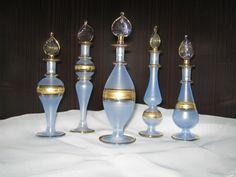 Royal Set Of 5 Egyptian Perfume Bottles 24 Ct Decor (Королевский набор 5 египетских Духи бутылки 24 CT Декор)