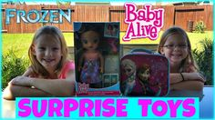 FROZEN ELSA AND ANNA SURPRISE LUNCH BOX WITH BABY ALIVE DOLL AND SURPRIS...