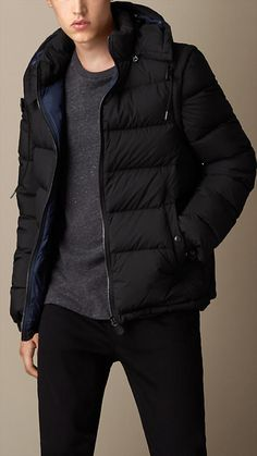 Burberry Brit Puffer Jacket with Removable Sleeves