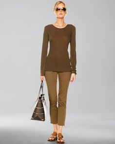 -3LGC Michael Kors  Cashmere Knit Sweater & Samantha Cargo Pants