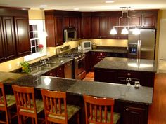 kitchen layouts with island | Kitchen Cabinet Design With Center Island 300x225 Designing Semi ...