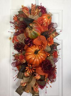 Fall Wreath For Front Door Give Thanks Wreath Thanksgiving Fall Deco Mesh, Deco Mesh Wreaths, Fall Wreaths, Door Wreaths, Floral Wreaths, Burlap Wreaths, Grapevine Wreath, Christmas Wreaths, Thanksgiving Wreaths