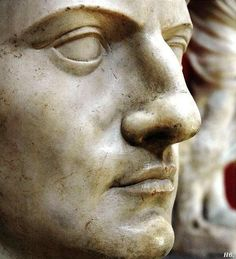 The face of the emperor Claudius. Vatican Museums. Italy.  http://hadrian6.tumblr.com
