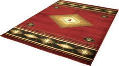 """Sporting the look of a traditional Southwest blanket, these rugs are as pleasing underfoot as they are to the eye.  Dimensions:  7'8"""" x 10'10"""". Available in a variety of styles."""