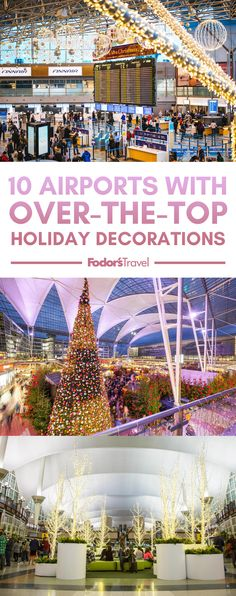 From Christmas markets in Munich to holiday entertainers greeting flyers, the holiday spirit is alive and well at the world's airports. Christmas Markets, Christmas Travel, Holiday Travel, Christmas Gifts, Christmas Decorations, Holiday Decor, Travel General, Christmas Feeling, Over The Top