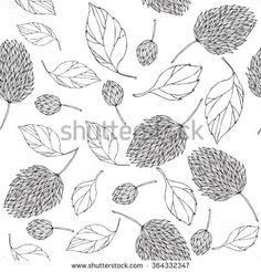 seamless leaves and flower
