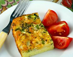 Asparagus, egg and cheese breakfast casserole, a recipe that comes together in minutes.